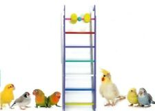 Small Bird Toy Bead & Rung Multi Coloured Ladder Budgie Cockatiel Canary Finch