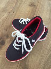 New Ralph Lauren Boy Girl Navy White Sneaker Tennis Shoes Sz 10