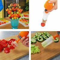 Convenient 6 Shape Cake Fruit Maker Kitchen Tool Pop Chef Food Decorator Cutter