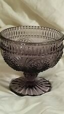 Depression Glass Candy Dish Rare Purple
