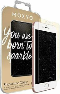 Moxyo Showtime Glitter Glass Screen Protectors for iPhone 8/7/6S/6+