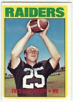 Fred Biletnikoff 1972 Topps Vintage Football Card Oakland Raiders WR #210