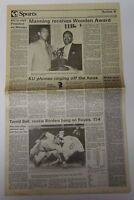 Vintage 1988 KANSAS JAYHAWKS NCAA Basketball Champs DANNY MANNING WOODEN AWARD
