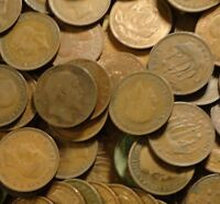 10 HALF PENNIES COINS OLD ENGLISH COINS 1911-1967