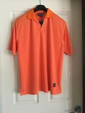 Men's Prodigy Orange Golf Shirt T Shirt Top Size M Medium NWT