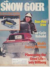 JAN 1978 SNOW GOER snowmobile magazine