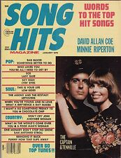 Song Hits Magazine January Jan 1976 David Allan Coe Minnie Riperton See My Store