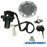 Fuel Gas Cap Ignition Switch Seat Lock W/ Key Set For Yamaha YZF R1 R6 FZ6