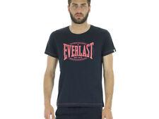 Magliette da uomo tinta unita Everlast in cotone