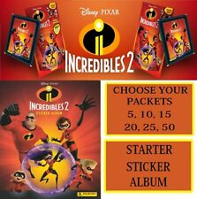 PANINI Disney Pixar INCREDIBLES 2 - Sticker Packs Packets Choose 5,10,15,25,50