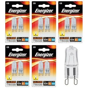 10 x G9 33w=40w Energizer Dimmable Energy Saving ECO Halogen Capsule bulbs 240v