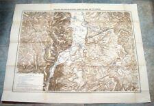 Alte Landkarte Stellung der Einschliessungs Armee von Metz dt/frz. Krieg 1870-71