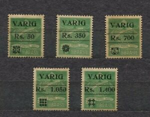 Brazilian VARIG stamps -  RHM V06/V10 - UNUSED