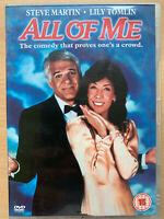 Todo de Me DVD 2005 Body-Swap Comedia Película Clásica con Steve Martin