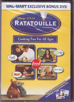 Ratatouille Cooking Fun For All Ages (DVD) Wal-Mart Bonus DVD WORLD SHIP AVAIL!