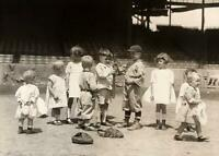 Antique Photo ... Children Playing Baseball ... Photo Print 5x7
