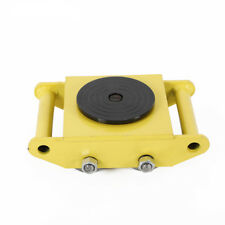 6T/13200lbs Heavy Duty Dolly Skate Roller Machinery Mover Steel Wheel Yellow Usa