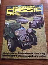 Vintage Magazine Thouroughbred & Classic Cars Film Prop  Car Showroom Sept 1975
