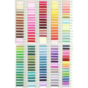 8m Trebla Embroidery Cross Stitch Thread Skeins 100% Cotton Mercerised 6 Strand