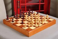 "The Grandmaster Chess Set and Casket Combination - 4.0"" King - Purpleheart Gilde"