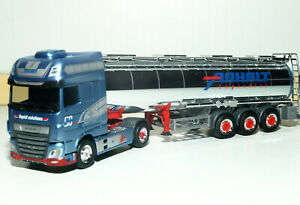 Herpa DAF XF SSC Euro 6 Chromtank-Sattelzug Anhalt Logistics 312691