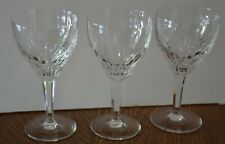"Royal Leerdam Rubato Clear THREE (3) Crystal 7 1/8"" Water Goblets Netherlands"