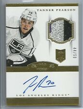 2013-14 PANINI DOMINION RC GOLD PARALLEL PATCH AUTO TANNER PEARSON /50 KINGS