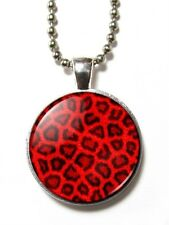 Magneclix magnetic pendant-Red Leopard Print - Goth/Emo