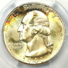 1941-D Washington Quarter 25C Rainbow - PCGS MS67+ Plus Grade - $1,600 Value!