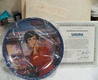 1983 USS Enterprise Star Trek Uhura Communication Office Collector Plate COA IOB
