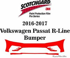 3M Scotchgard Paint Protection Film Pro Serie 2016 2017 Volkswagen Passat R-Line