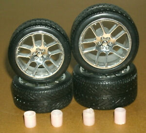 1/18 Scale Miniature Tires on Dodge Viper SRT10 Rims (Replace/Upgrade Wheels)