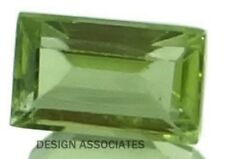 PERIDOT 5 x 3 MM BAGUETTE CUT 10 PIECE SET ALL NATURAL