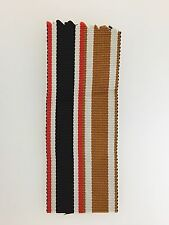 GENUINE German WWII War Merit Cross and Westwall combined miniature medal ribbon