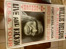 willie nelson promo poster 1 of 50 ft myers fl 3 3 2004 live and kicken tour