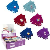 Kids Gloves Magic Small Boys Winter Cool Colors Thermal Warm Stretchy Children