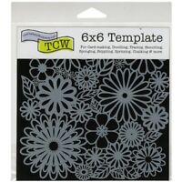 6x6 Flower Frenzy Design Crafter Workshop Mixed Media Art Layering Stencil Jaime