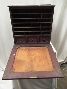 "Antique Gentlemen'S Traveling Bureau Writing Box Secretary Lap Desk Victorian """