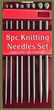 New 8pcs Quality Plastic Knitting Needles Craft Set 25cm x 4mm - 5mm - 6mm - 8mm