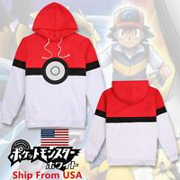 Pokemon Go Team Valor Team Mystic Team Instinct Pokeball Hoodie Sweater Costume