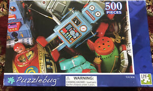 500 piece puzzle Bug Rare Puzzle Picture Of Robots and Old Toys ( Collectable )