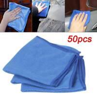 50x Microfibre Cleaning Cloths Dusters Car Bathroom Polish Towels Glass Cloth