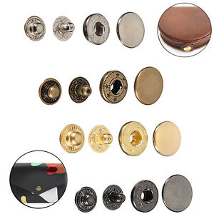 S Spring Press Studs Snap Fasteners 4 Parts Set Button DIY Craft 10/12.5/15/17mm