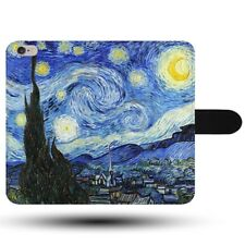 Van Gogh Dutch Paint Art Starry Night Synthetic Fabric Phone Case Cover
