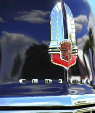 1941 Cadillac Series 62 Coupe Hood Emblem 13x19 Mancave Garage Classic Cars 5.7