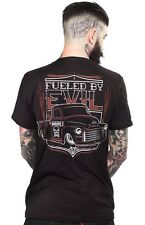 Sourpuss Kustom Kreeps Fueled By Evil Mens Hot Rod T Shirt Medium