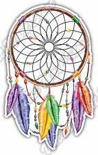 "Dreamcatcher Sleep Indian Rainbow Feathers Car Bumper Vinyl Sticker Decal 3.7X5"""