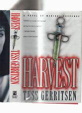 TESS GERRITSEN-HARVEST-SIGNED 1ST ED 1996 LIKE NEW HB/J SUPERB MEDICALTHRILLER