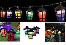 70 LED Coloured Party Lantern Garden Xmas Lights Festive Outdoor String Fairy