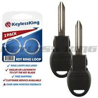 2 New Uncut Key Remote Replacement Transponder Chip Ignition Blade